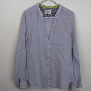 Holding Horses Anthropologie Striped Button Up Blo